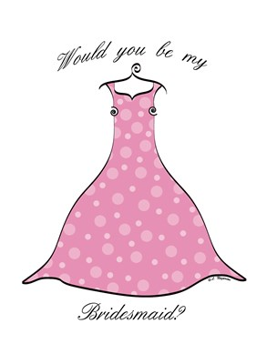 Will You Be My Bridesmaid Cards and Thank You Card