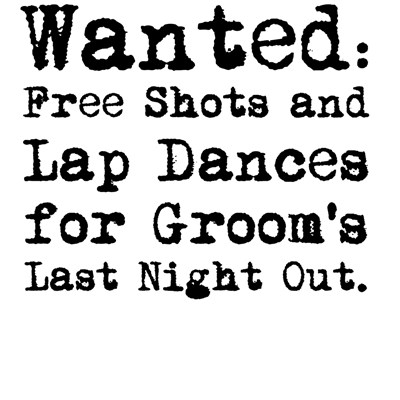 Groom's Last Night Out Bachelor Party T-Shirts