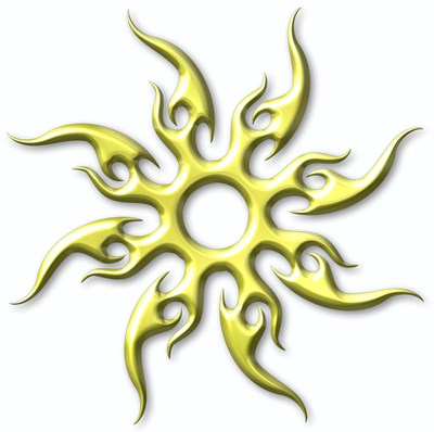 free Tribal Sun Tattoo Picture design