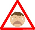Warning Sign - Pictures Crying Baby