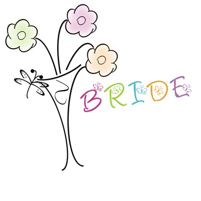 Butterfly Flower Bride T-shirts, Tote Bags & Gifts