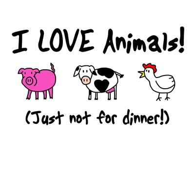 vegetarians love animals
