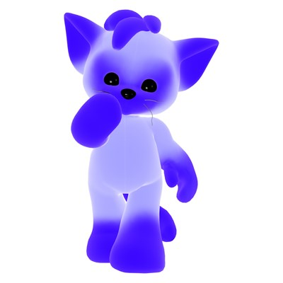 Bright Blue Kitty
