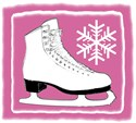 Bright Pink and White Ice Skate