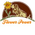 Basset Hound Flower Power