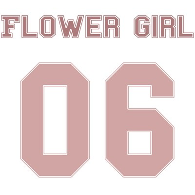 Flower Girl 06 (Uniform Stencil)