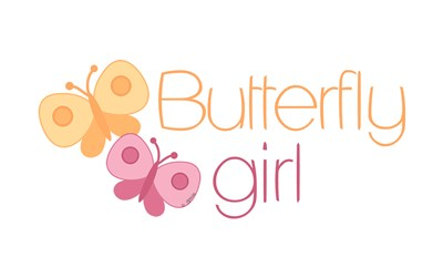 Orange and Pink Butterfly girl