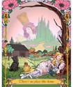 A girl dreams of Ozma and the Emerald City mantled with Pink Poppies.  Dorothy?  Perhaps.  Or just a friend of Oz fond of her toys. Glinda, Scarecrow, Tin Man and the Lion watch on.  Toto too.  A great Wizard of Oz gift set.