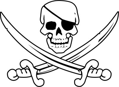 Eyepatch Skull & Crossed Swords
