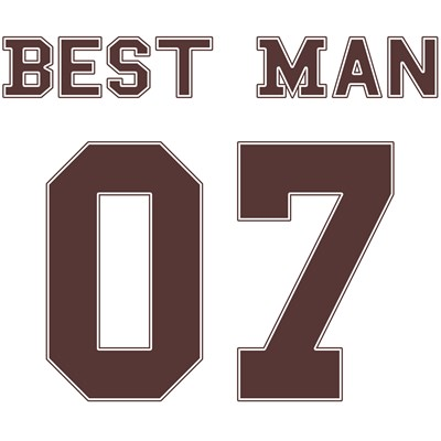 Best Man 07 (Uniform Stencil)