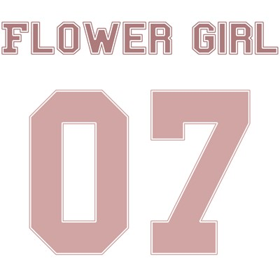 Flower Girl 07 (Uniform Stencil)