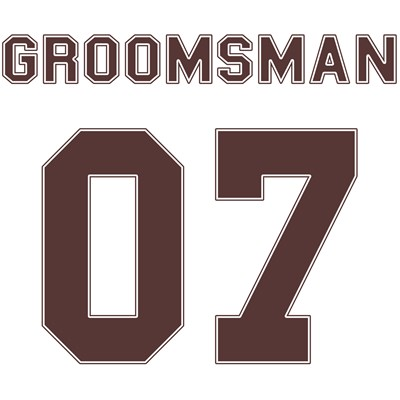 Groomsman 07 (Uniform Stencil)