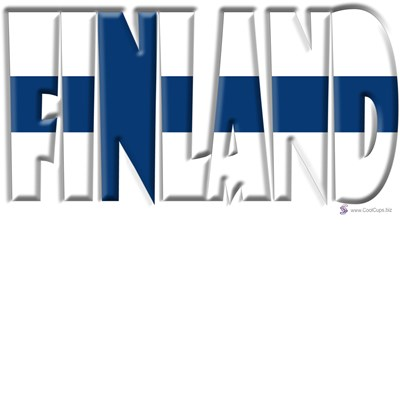 Word Art Flag Of Finland Coolcups International Store
