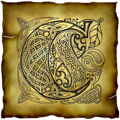 Celtic Knotwork Letter C