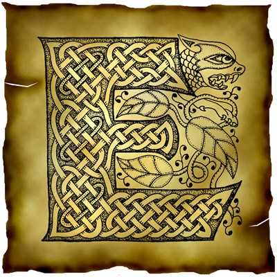 Celtic Knotwork Letter E
