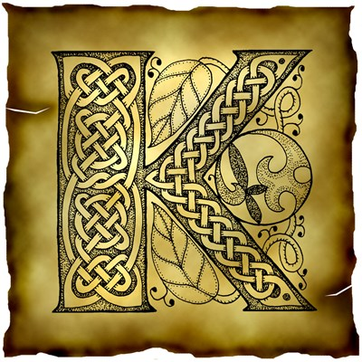 Celtic Knotwork Letter K