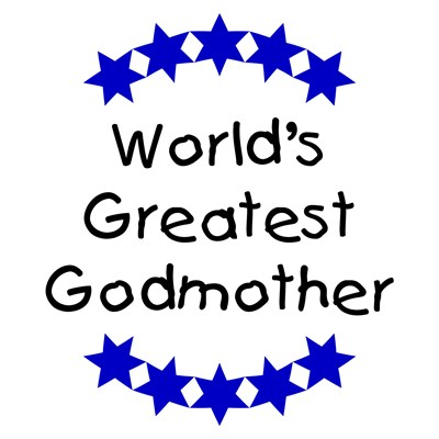 World's Greatest Godmother (navy blue stars)