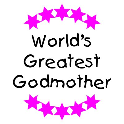 World's Greatest Godmother (pink stars)