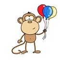 Monkey with Balloons