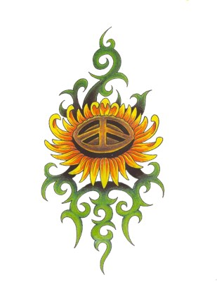 Tribal Peace Sun Flower