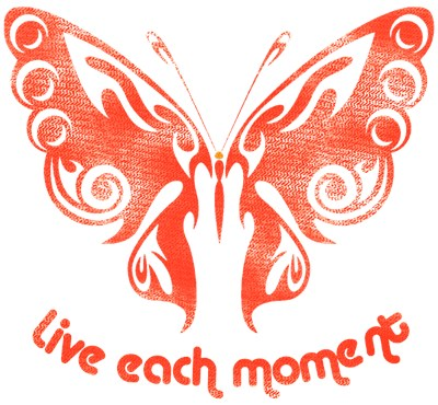 Live Each Moment Distressed Look