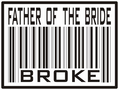 Father of the Bride Broke Wedding T-shirts & Gifts