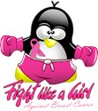 Breast Cancer Fighting Penguin