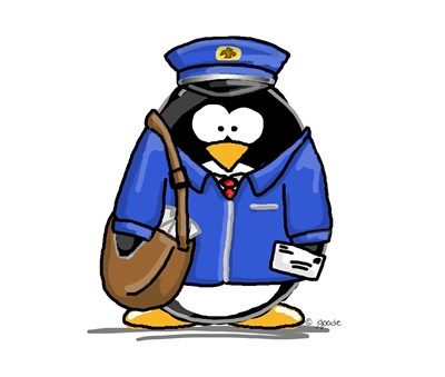 Mail Carrier Penguin