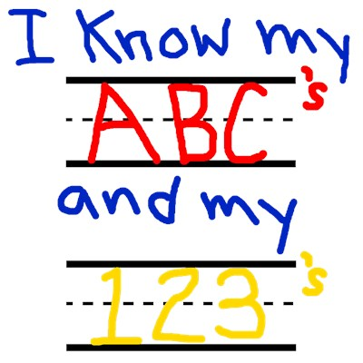 I know my ABC's and my 123's