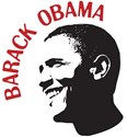 Barack Obama Head Shot (red)