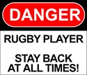 """""""Danger Rugby Player"""" by RugbyMike.com"""