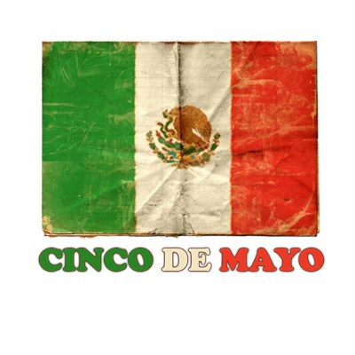 Cinco De Mayo tee with vintage Mexican flag from BurnTees
