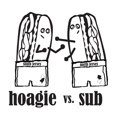 Hoagie vs Sub t shirt from BurnTees