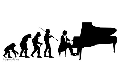 evolving into a piano player