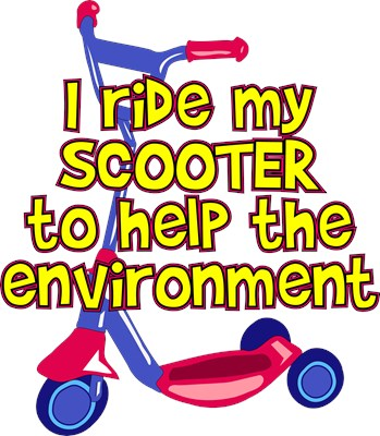 I ride my scooter to help the environment