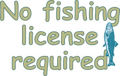 Fishing licenses aren't always required for kids.  For your little fisherman, make sure you make it known that they can fish for trout without paper!