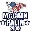 McCain Palin Flag T-Shirts