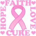 Hope Faith Love Cure T-Shirts