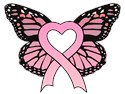 Pink Ribbon Butterfly T-Shirts