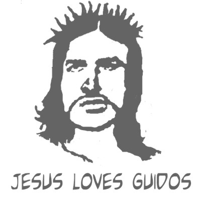 Jesus Loves Guidos t-shirt by BurnTees