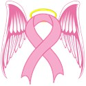 Pink Ribbon breast Cancer Angel T-Shirt