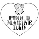 Proud Marine Dad - Dog Tags