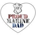 Proud Marine Dad - Red, White and Blue