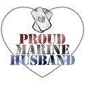Proud Marine Husband - Red, White and Blue