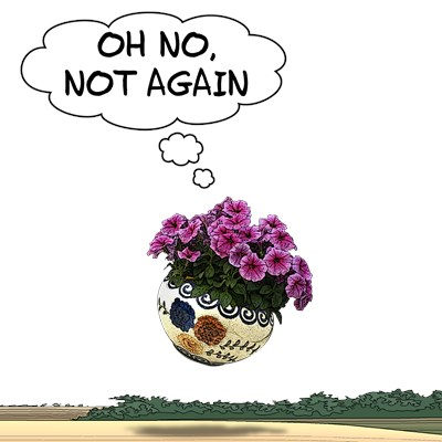 Bowl Of Petunias Quote