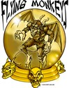 Flying Monkeys.  A flying monkey in a crystal ball from the Wizard of Oz are here to spread evil and havoc.