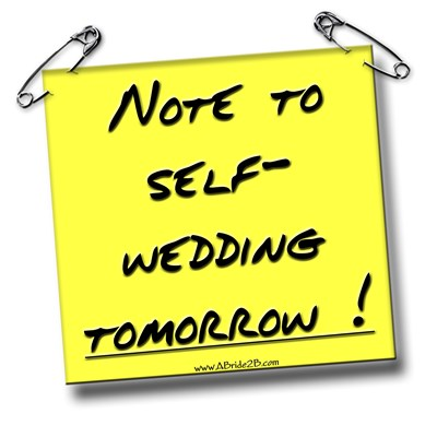 Groom Wedding Note