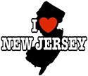 I Love New Jersey t-shirts