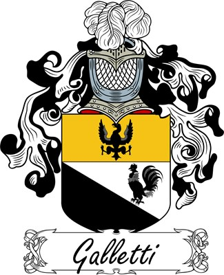 Galletti Family Crest, Coat of Arms