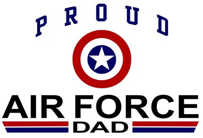 Proud Air Force Dad t-shirts